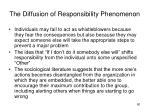 the diffusion of responsibility phenomenon1