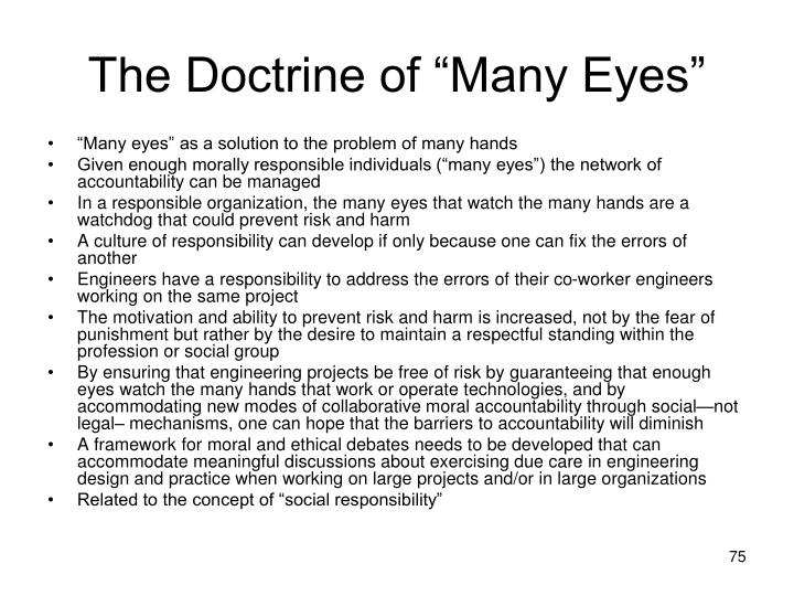 "The Doctrine of ""Many Eyes"""