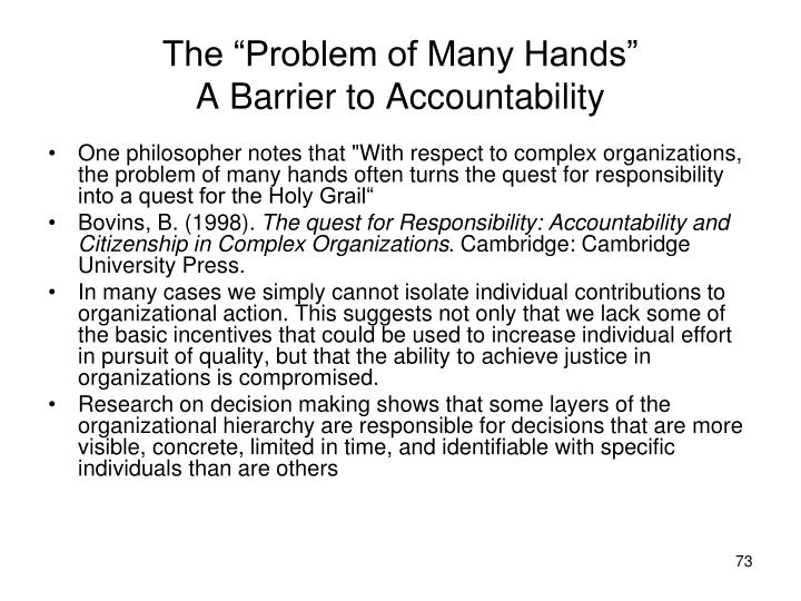 "The ""Problem of Many Hands"""