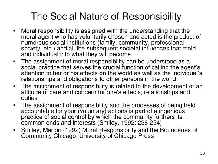 The Social Nature of Responsibility