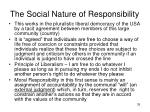 the social nature of responsibility2