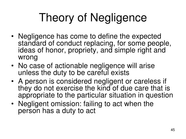 Theory of Negligence