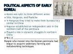 p olitical aspects of early korea