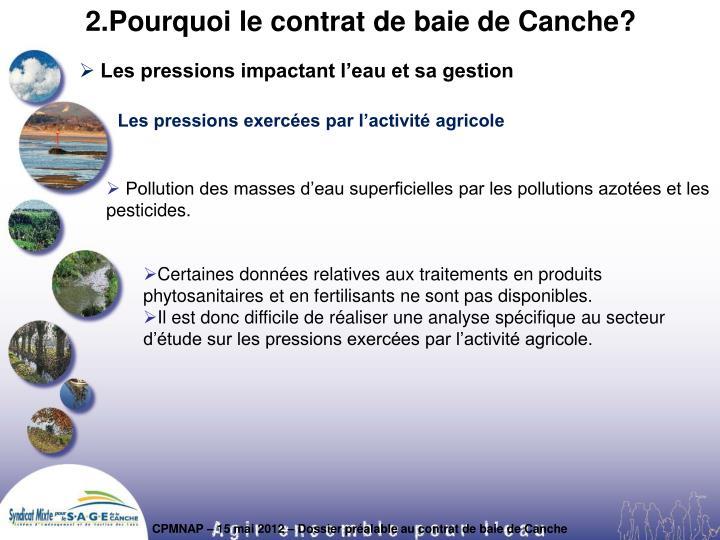 2.Pourquoi le contrat de baie de Canche?