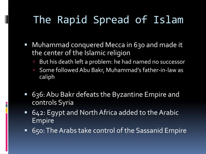 The Rapid Spread of Islam