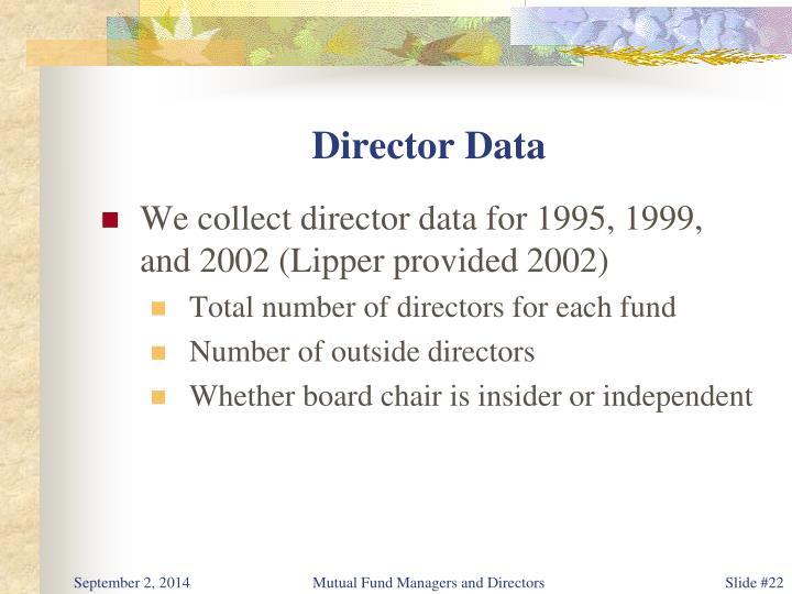 Director Data