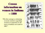 census information on women in indiana 1880