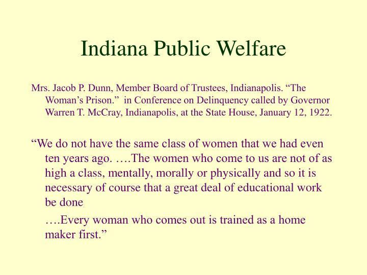 Indiana Public Welfare