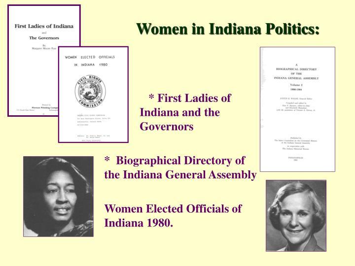 Women in Indiana Politics: