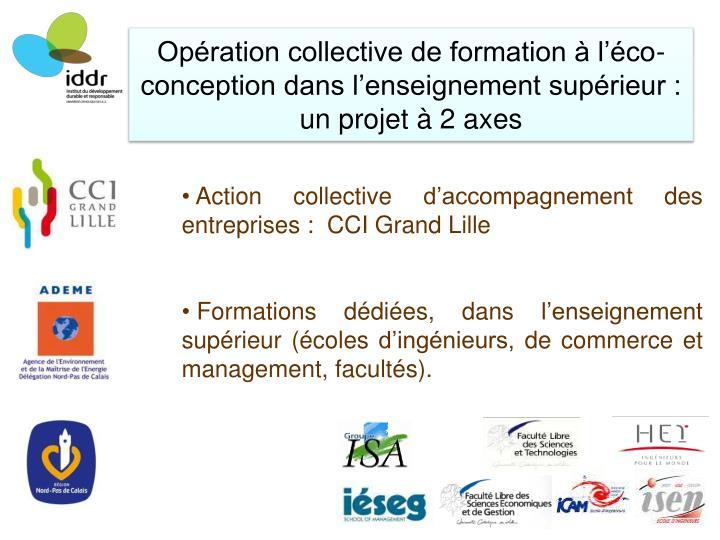 Opération collective de formation à l'éco-conception dans l'enseignement supérieur :
