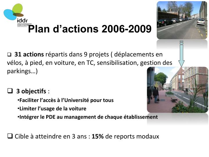 Plan d'actions 2006-2009