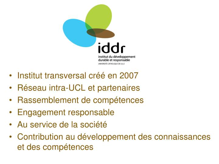 Institut transversal créé en 2007