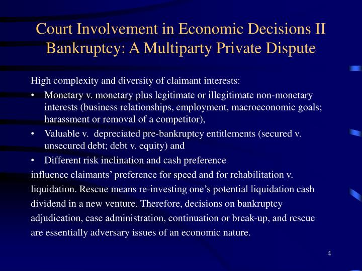 Court Involvement in Economic Decisions II