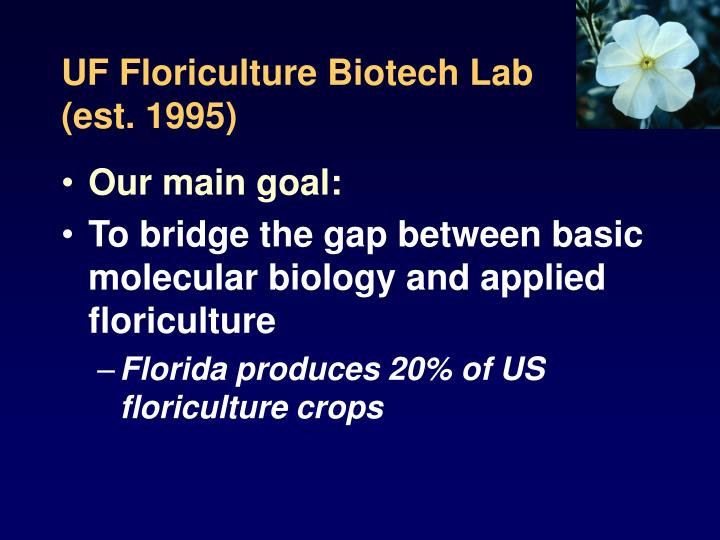 UF Floriculture Biotech Lab