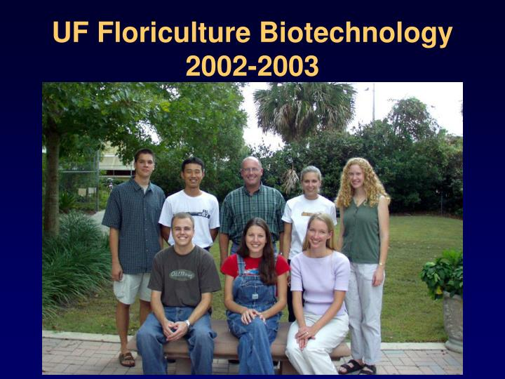 UF Floriculture Biotechnology
