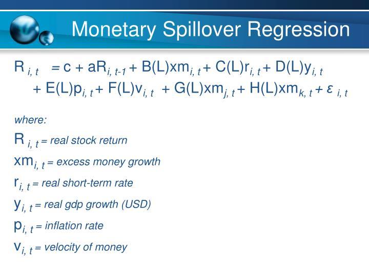 Monetary Spillover Regression