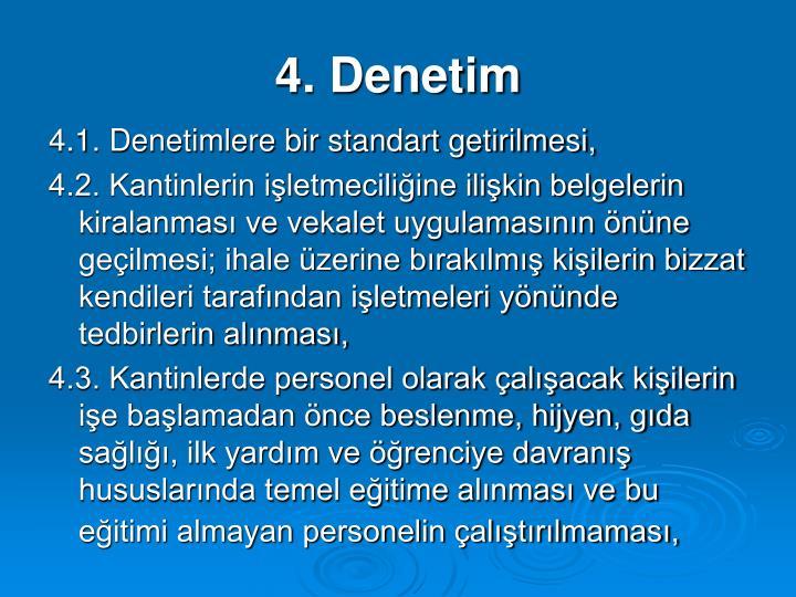 4. Denetim