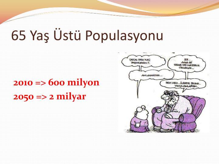 65 Yaş Üstü Populasyonu