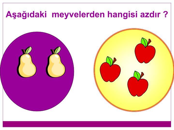 Aşağıdaki  meyvelerden hangisi azdır ?