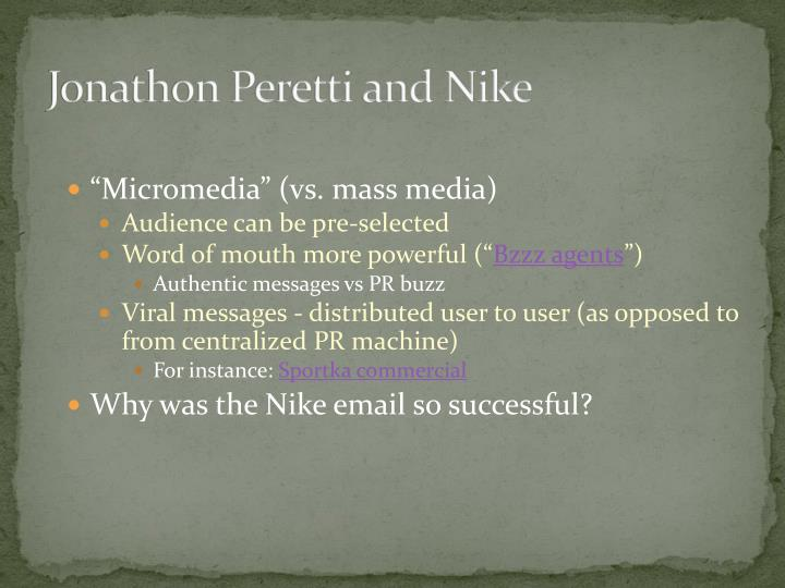 Jonathon Peretti and Nike