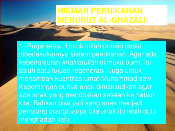 HIKMAH PERNIKAHAN MENURUT AL-GHAZALI: