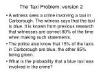 the taxi problem version 2