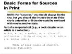 basic forms for sources in print2