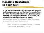handling quotations in your text2