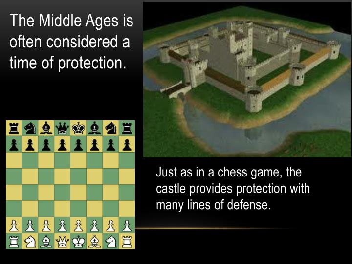 Just as in a chess game, the castle provides protection with many lines of defense.