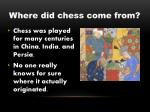 where did chess come from