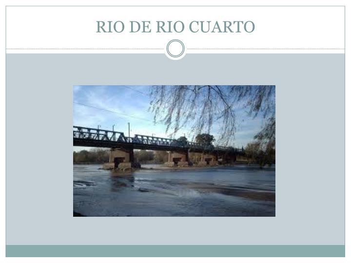 RIO DE RIO CUARTO