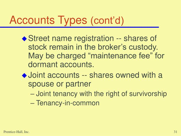 Accounts Types