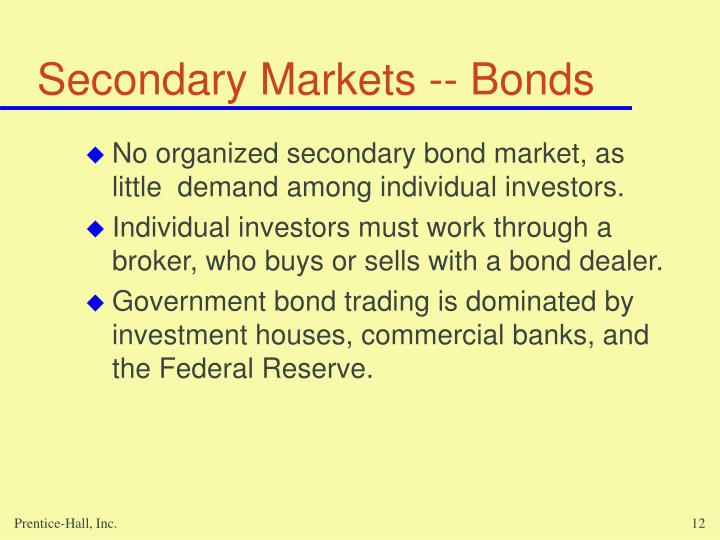 Secondary Markets -- Bonds