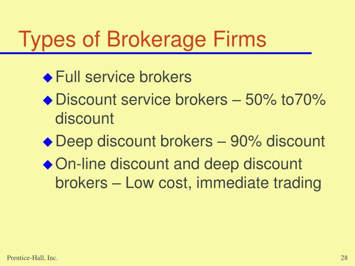 Types of Brokerage Firms