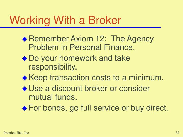 Working With a Broker