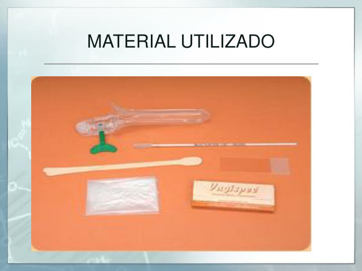 MATERIAL UTILIZADO