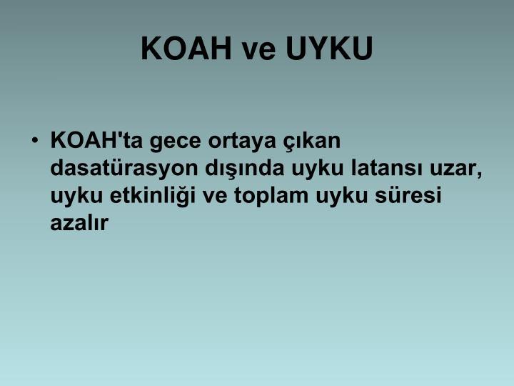 KOAH ve UYKU