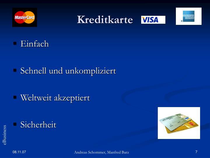 Kreditkarte RГјckbuchung