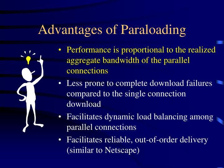Advantages of Paraloading