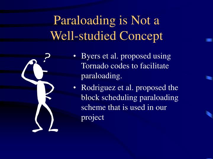 Paraloading is Not a