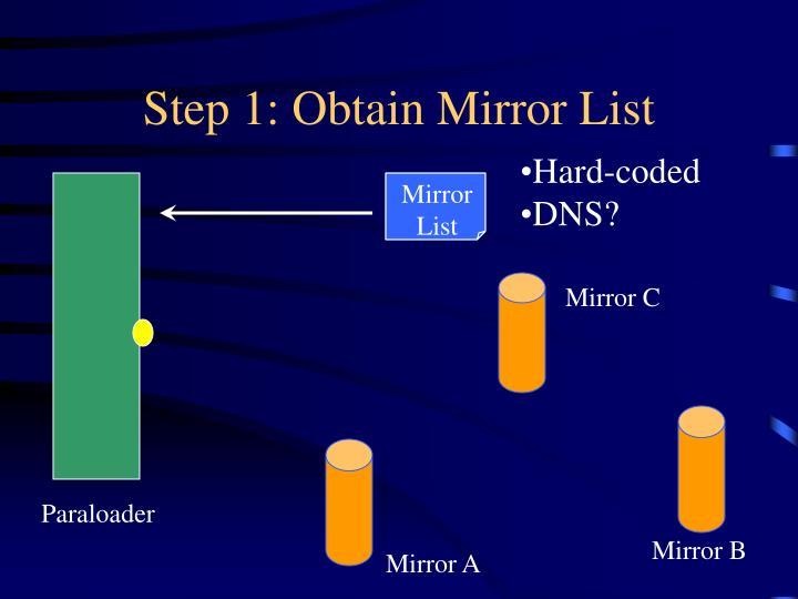 Step 1: Obtain Mirror List