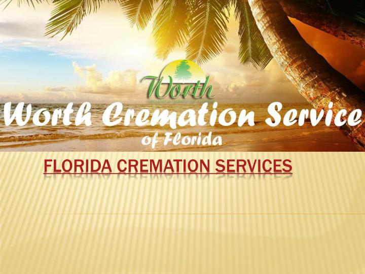 Florida cremation services