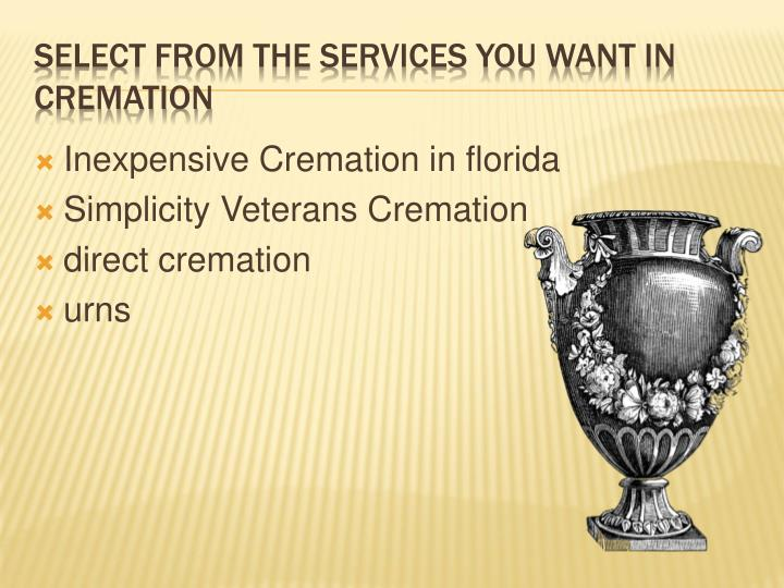 Inexpensive Cremation in