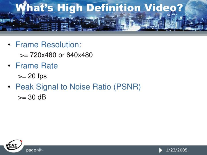 What's High Definition Video?