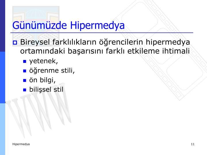 Günümüzde Hipermedya