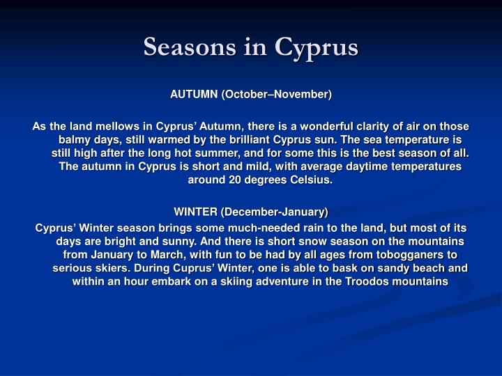 Seasons in Cyprus