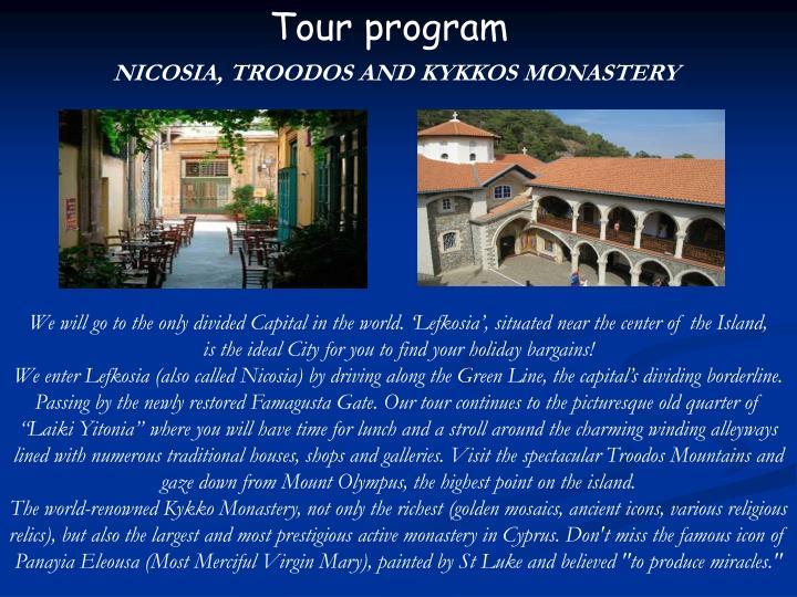 Tour program