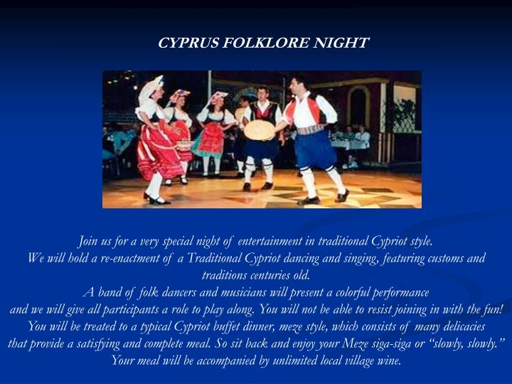 CYPRUS FOLKLORE NIGHT