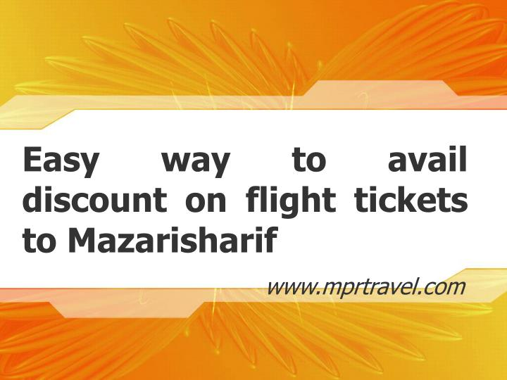 Easy way to avail discount on flight tickets to