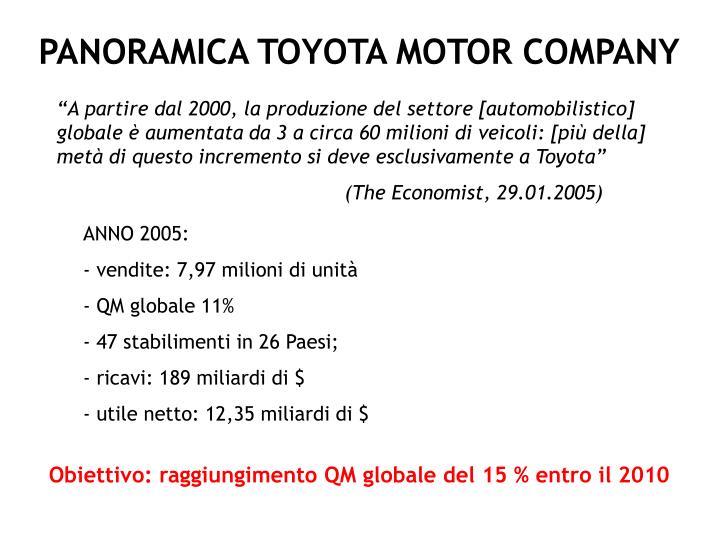 PANORAMICA TOYOTA MOTOR COMPANY